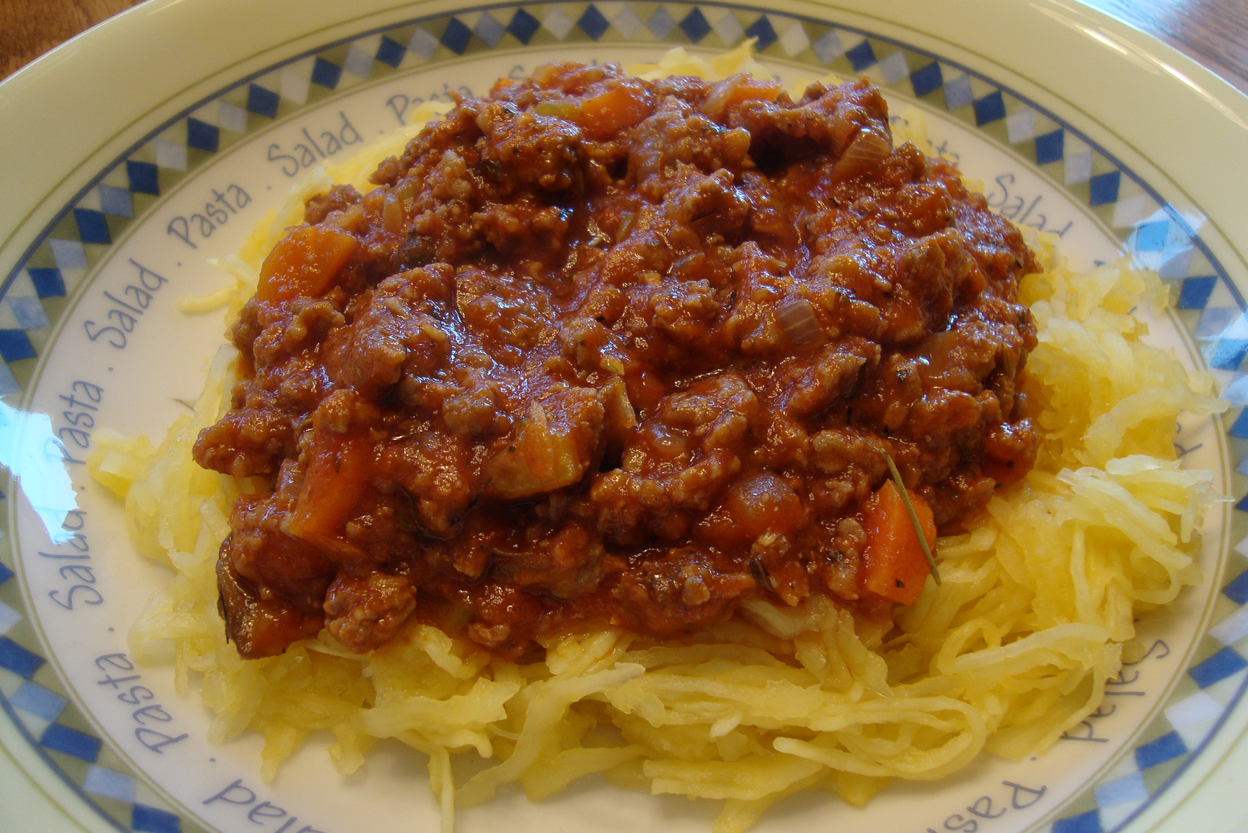 Spaghetti (Squash) with Meat Sauce