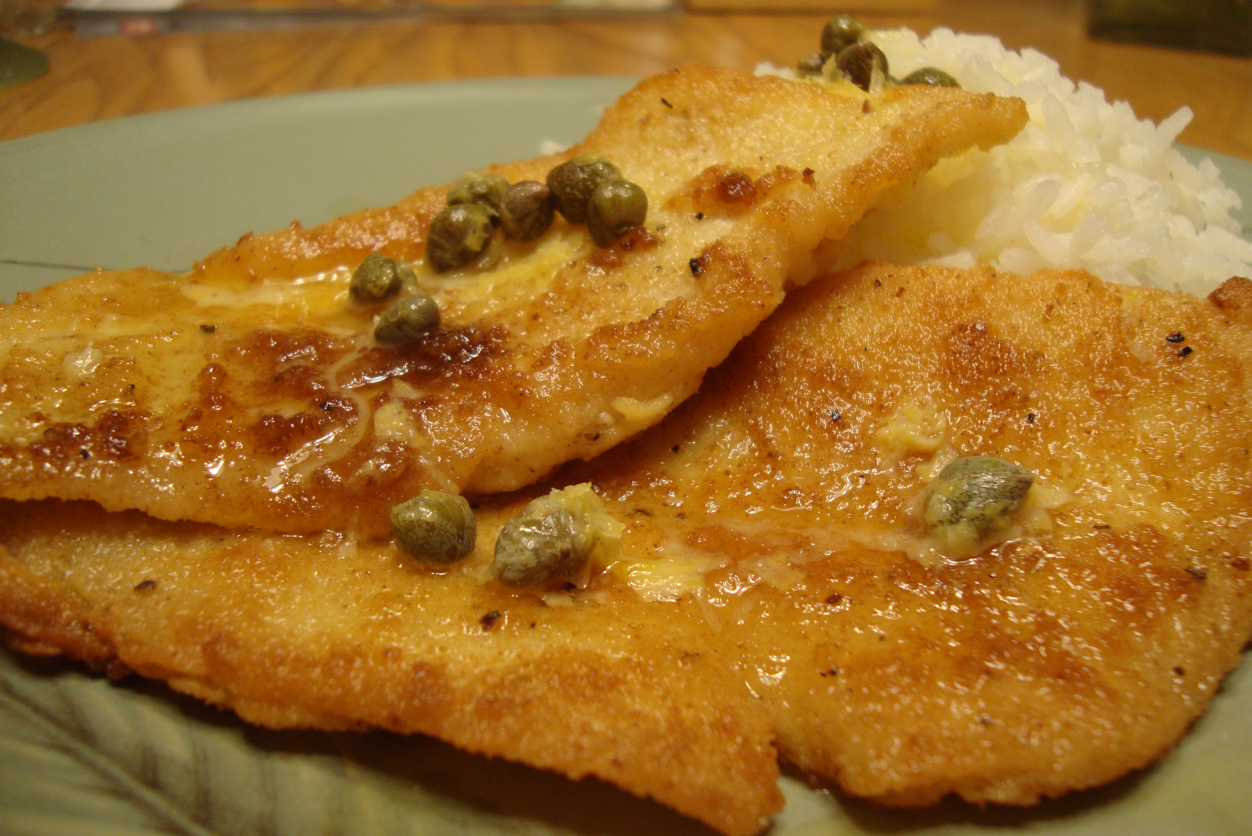Pan fried sole with lemon caper butter sauce this is so for Lemon butter caper sauce for fish