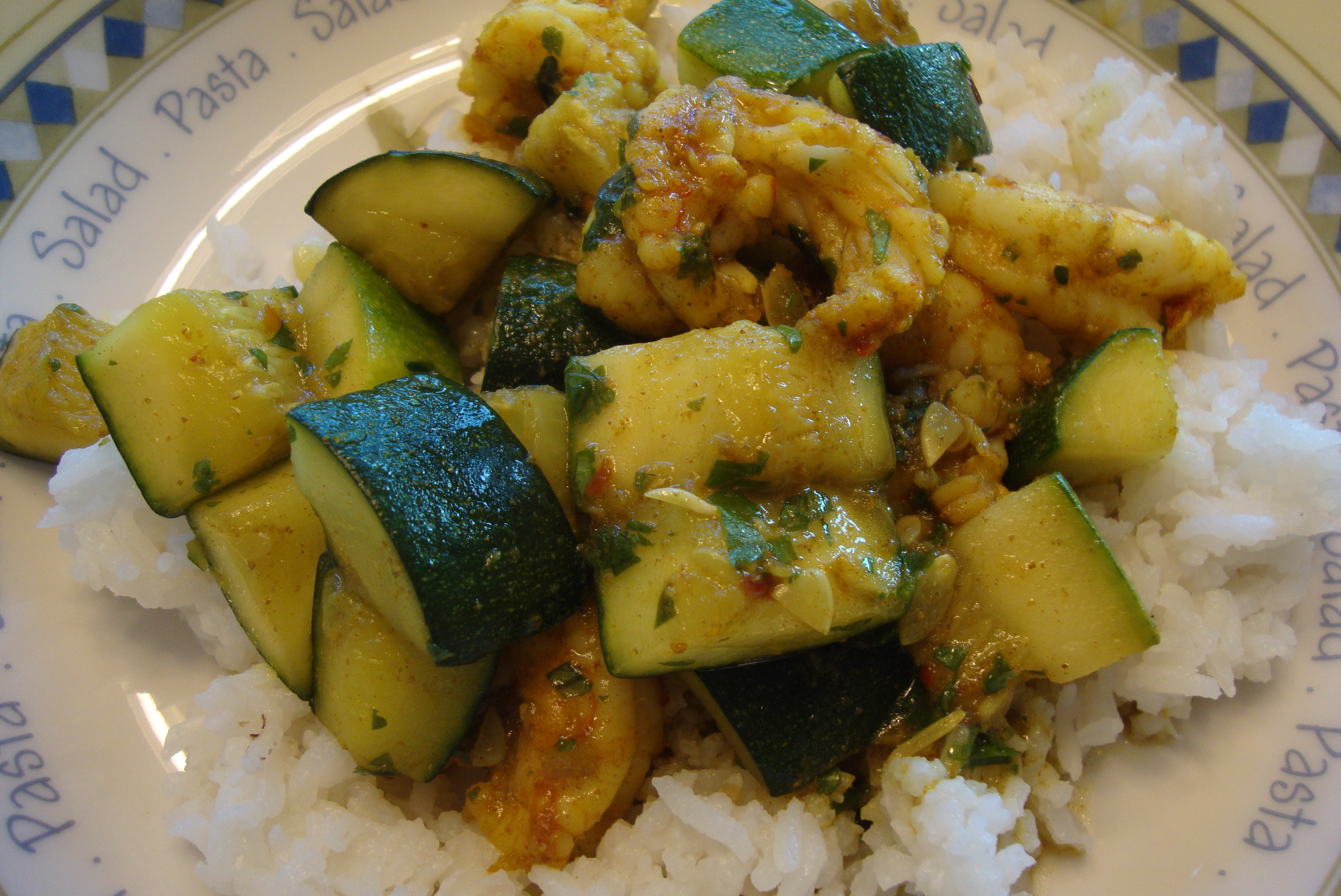 Indian spiced shrimp and zucchini this is so good warm indian spices are the perfect match for fresh from the garden zucchini and shrimp forumfinder Choice Image