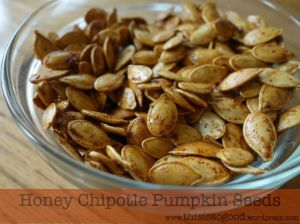 Honey Chipotle Pumpkin Seeds | This is so Good...