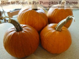How to roast a pie pumpkin for puree.001