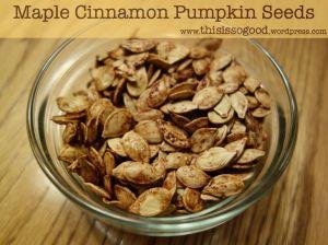 Maple Cinnamon Pumpkin Seeds | This is so Good...