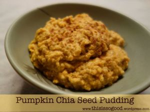 Pumpkin Chia Seed Pudding | This is so Good...