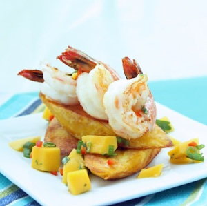 Caribbean Shrimp with Plantains and Mango Salsa (photo owned by I Breathe...I'm HUngry...)